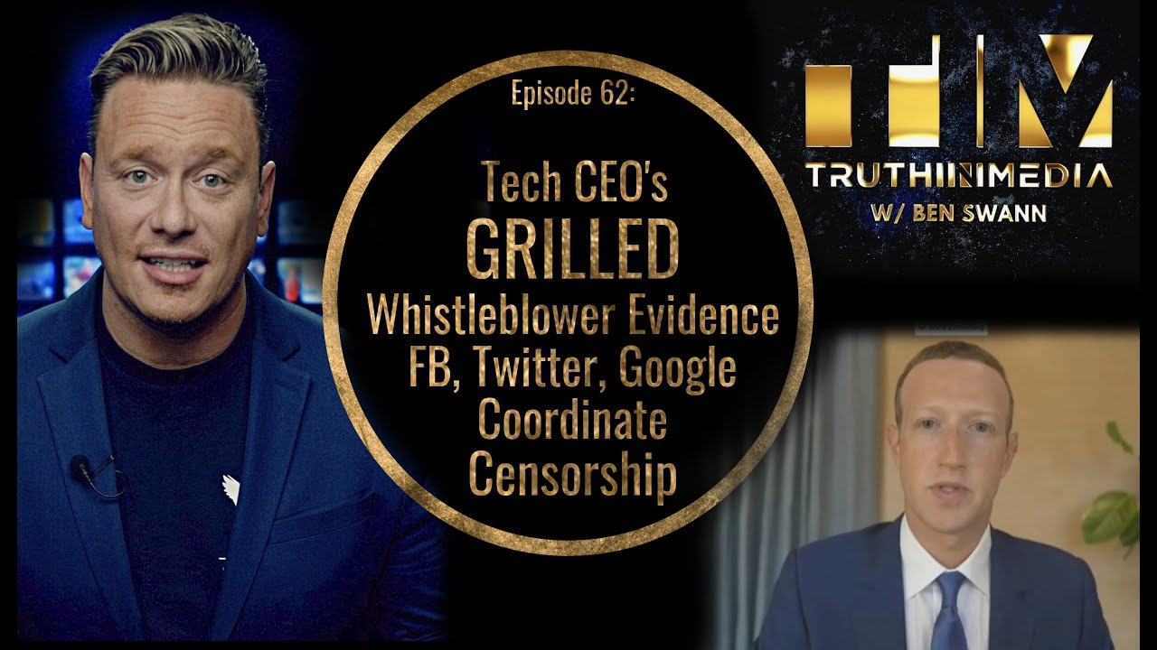 CEO's GRILLED over Whistleblower Evidence of De-platforming Collusion Between Big Tech